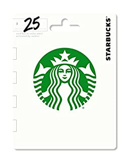 Starbucks Gift Card $25 - Packaging may vary (B00AR51Y5I) | Amazon price tracker / tracking, Amazon price history charts, Amazon price watches, Amazon price drop alerts