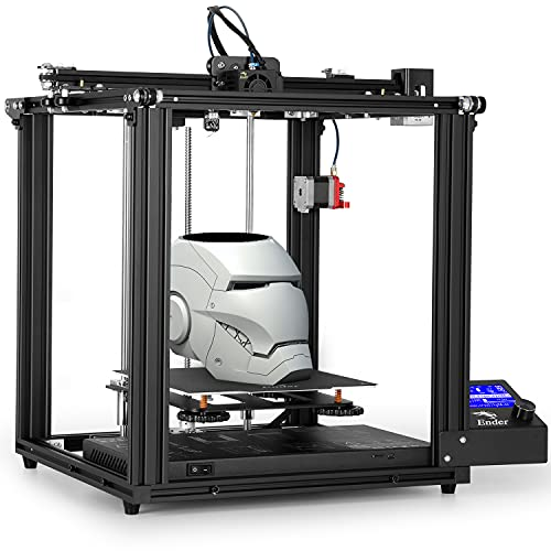 3D Printer, Official Creality Ender 5 Pro Business Grade FDM 3D Printers, Fully Open Source with Power Off Resume Printing Function, Double Y-axis Control System, Build Size 220x220x300mm