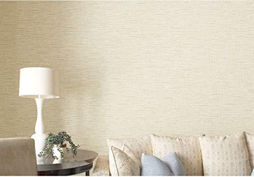Papel pintado no tejido con líneas de lino y líneas, papel pintado europeo moderno para salón, fondo de TV, dormitorio (beige)