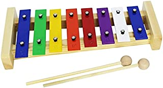 A-Star AP7101 8 Note Glockenspiel Xylophone with Multi-Coloured Keys for Kids with Pair of Wooden Beaters