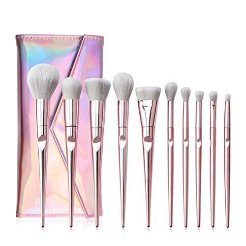 SSMDYLYM 10 PCS Pinceaux de Maquillage pour Les Yeux Set Poudre Ombre Shadow Broyseries Maquillage Facial Outils de Pinceau cosmétique
