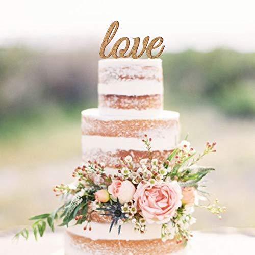 Decoración para tarta de corcho con diseño rústico para decoración de tartas de boda, decoración de madera y corcho para decoración de bodas