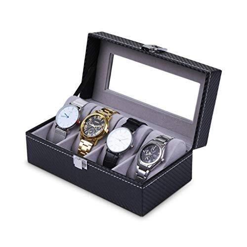 Caja de almacenamiento para mujeres con pantalla de cristal grande soporte para reloj