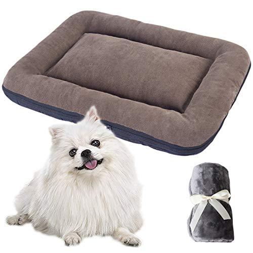 JOOFFF Cama Mascotas Antideslizante,Cesta Perro Lavable Funda Lavable,Colchoneta Mascota Cama Perros Suave Perros Grandes Medianos Qequeños-Marrón S