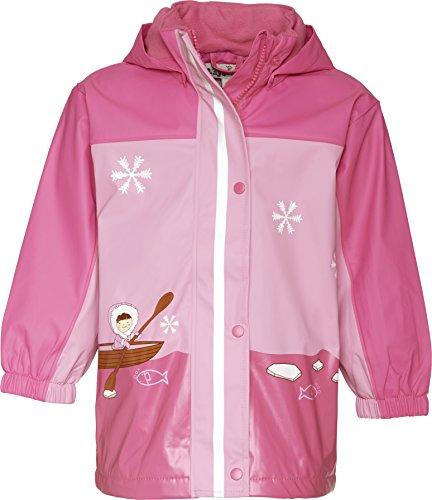 Playshoes Mädchen Regen-Jacke Eskimo Regenmantel, Pink (18 pink), 92