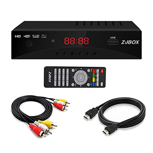 Digital TV Converter Box, ATSC Cabal Box - ZJBOX for Analog HDTV Live1080P with PVR Recording&Playback,HDMI Output,Timer Setting TV Tuner Function Set Top Box Digital Channel Free