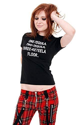 Tiger of London - Punk Tequila Girls Slogan tee M/Black