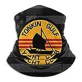 Alanader Tonkin Gulf Yacht Club Patch Unisex Fleece Neck Warmer Warmer Neck Tube Neck Scarf Neck Gaiters