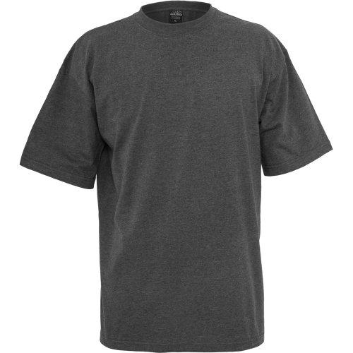 Oferta de Urban Classics Basic Crew Neck Tall Tee, Camiseta, para Hombre, charcoal, 3XL
