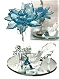 10 Mis Quince Anos Sweet 15 Acrylic Flower with High Heel Shoe Favor Gift Turquoise