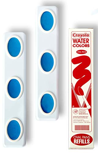 Crayola Oval Pans Watercolor Refills, Turquoise Blue