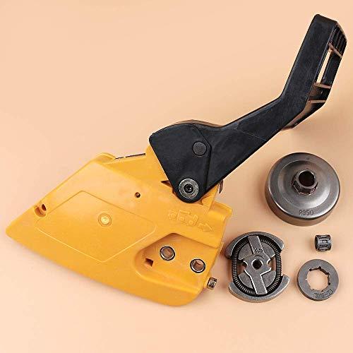 Mango de freno, cubierta de embrague, kit de tambor de embrague compatible con PARTNER 350351 MCCULLOCH MAC 335435440 piezas de motosierra 530014949