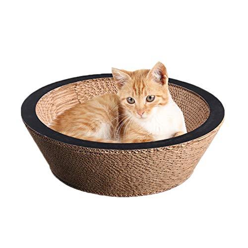Tiragraffi per gatti con erba gatta | Cestino per gatti | ecologico cartone ondulato | Bordo impermeabile per mantenere la forma della ciotola