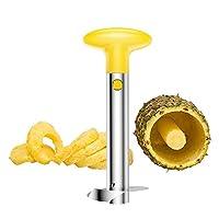 Sbucciatore per ananas e affettatrice in acciaio INOX, Affettatrice Staccabile, Utensili da cucina facili da cucina, Affetta Ananas Taglia, Ananas Affettatrice, Utensili per Ananas