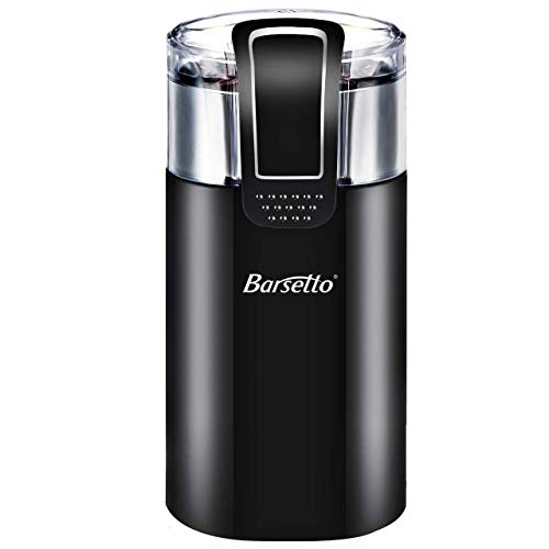 Coffee Grinder Electric,Barsetto150W Powerful Blade Coffee Bean & Spice Grinder with 12 Cups Large Grinding Capacity for Dry Spices, Nuts, Seeds, Beans, Stainless Steel Blades, Black …
