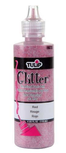 TULIP Dimensional Fabric Paint 4oz Glitter Red