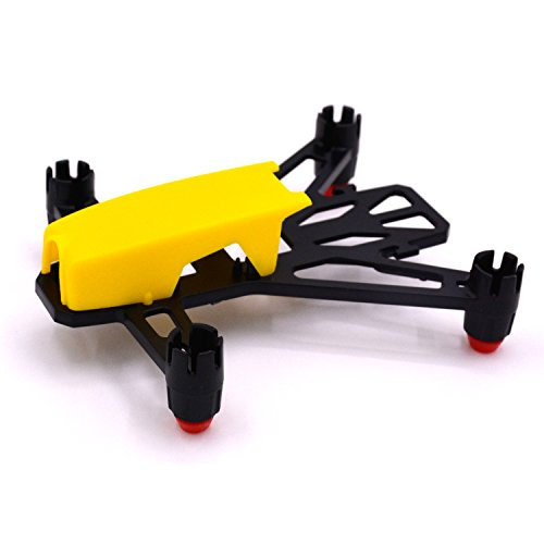 LHI 100mm lightweight Micro Brush Quadcopter Frame No need to assemble for Mini Micro Nano fpv racing support for 820 8.520mm motor (Yellow)