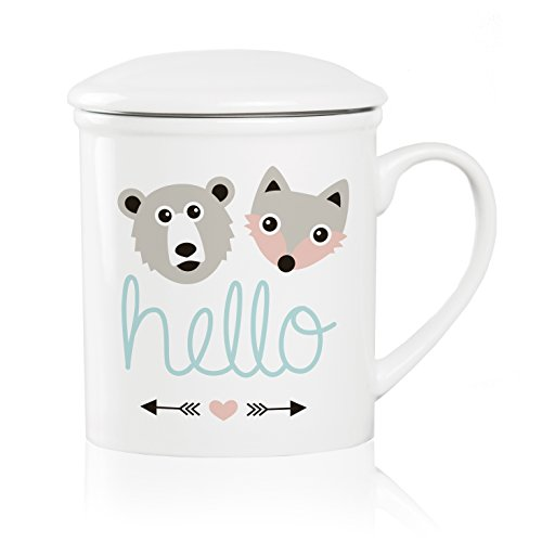 We Love Home - Taza de té de Porcelana con Tapa +...