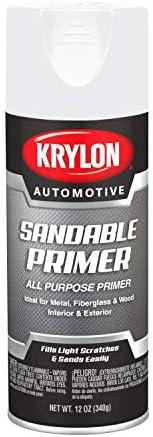 Krylon Automotive High Heat Primer, Gray, 11 oz, Model Number: KA8655007