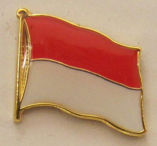 Indonesien Pin Anstecker Flagge Fahne Nationalflagge Flaggenpin Badge Button Flaggen Clip Anstecknadel