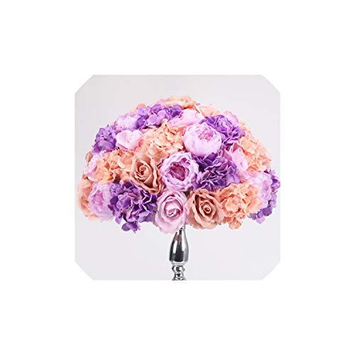 Archiba Wedding Decor Silk künstliche Herzstück Blumenball DIY Alle Arten Blumen-Kopf-Hochzeit Dekor-Wand-Schaufenster Tabelle Accessorie 4 Größen, O, 55cm