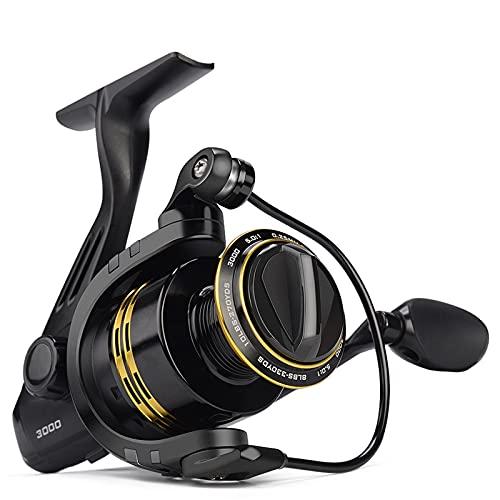Qivor Bobina de Pesca 8kg MAX MAX Power 5.0: 1/4.5: 1 Relación de Engranajes 5 + 1 rodamientos de Bolas Peso Ligero Pinza de Carrete de Pesca (Spool Capacity : 2000 Series)