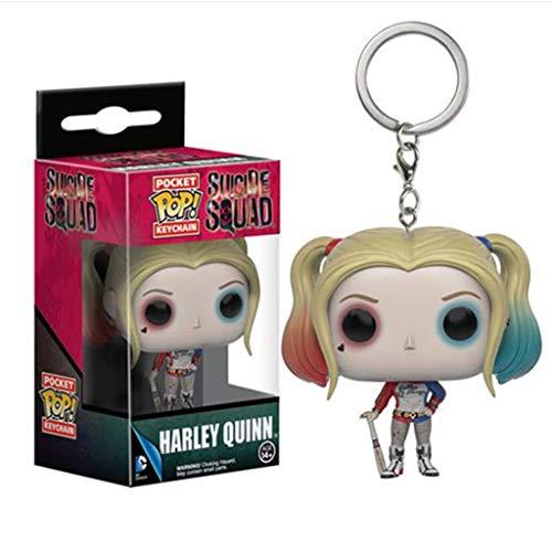 """Luckly77 Harley Quinn Llavero""""Suicide Squad"""" exquisita figura POP juguetes coleccionables"""