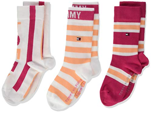 Tommy Hilfiger Mädchen TH Kids 3P GIFTBOX Socken, Rosa (Pink Lady 026), 27-30 (Herstellergröße: 27/30) (3er Pack)