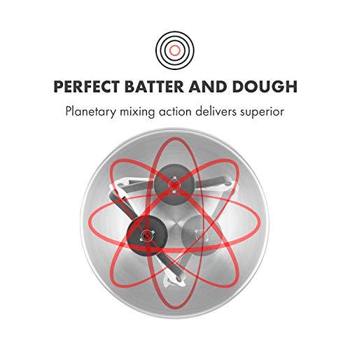 Klarstein Bella Argentea Küchenmaschine Rührgerät (1200 Watt, 5,2 Liter-Rührschüssel, 6-stufige Geschwindigkeit) silber - 4