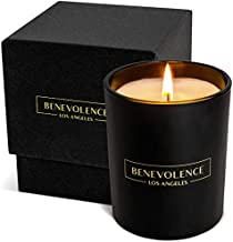 Premium Bergamot & Jasmine Candle | Highly Scented Candles for Home | 8 oz 45 Hour Burn, Spring Candles, All Natural Soy Candles | Aromatherapy Bergamot Candles with Matte Black Glass Gift Box