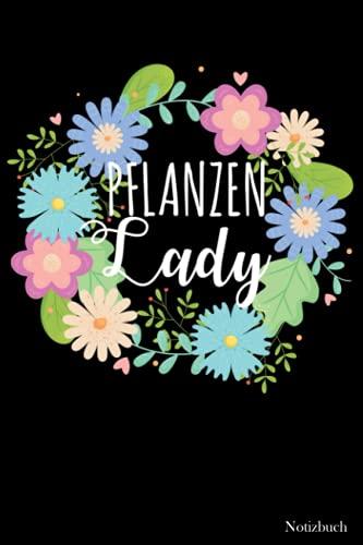 Notizbuch: Pflanzen Lady Blumen Notebook | Tagebuch zum Notieren, Planen & Organisieren | Tolle Geschenkidee | 105 punktierte Seiten | ca. Format A5 |