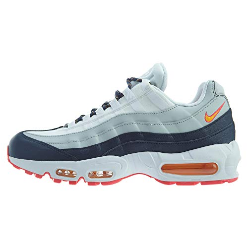 Nike AIR MAX 95 W Sneaker Damen Weiss/Blau/Orange - 37 1/2 - Sneaker Low