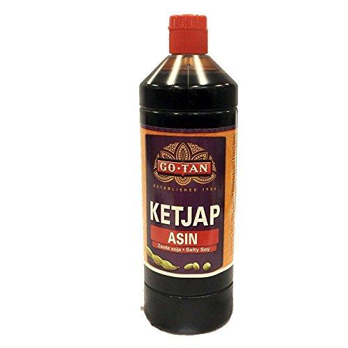 GoTan Ketjap Asin 1000ml Flasche (Salzige Soja Sauce)