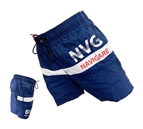 costume mare uomo boxer Navigare Boxer Mare Costume Uomo Pantaloncini da Bagno Swim Short Piscina (098346 Blu