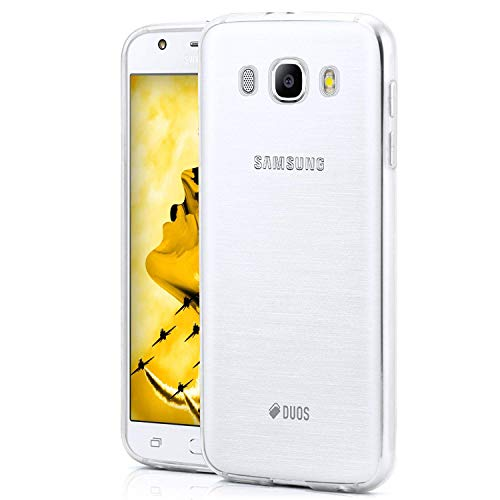 NEW'C Cover Compatibile con Samsung Galaxy J5 2016, Custodia Gel Trasparente Morbida Silicone Sottile TPU [Ultra Leggera e Chiaro]