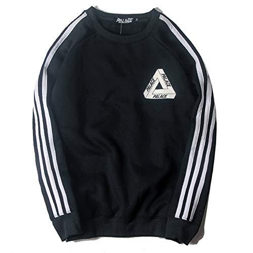 Fashion Hoodie Men Women Triangle Three-Bar Sports Windbreaker Sweater