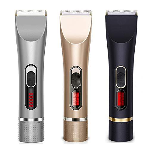 JRPT Tondeuse à Cheveux Choix multiples,Tondeuse barbe affichage de la puissance LED, deux réglages de vitesse, réglage fin de la tête de coupe puissant/Noir / 18×4.5cm
