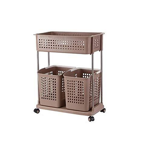 F-Storage Cestas de Almacenamiento de Ropa Sucia de múltiples Capas Cestas de lavandería con Ruedas de plástico Cestos de Almacenamiento de cestas (Color : C)