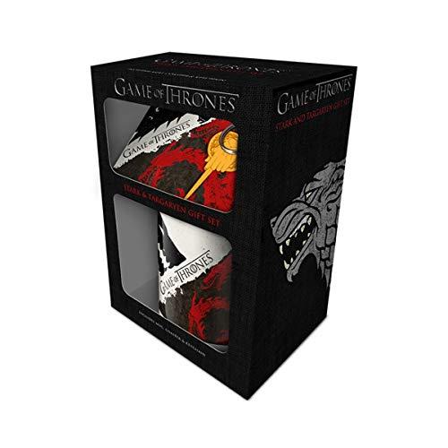 GOT - Stark Targaryen Mug, Coaster and Keychain Set