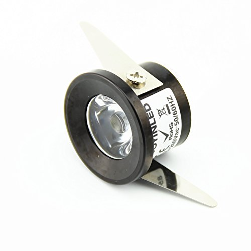 Pack de 10 focos LED de 220 V de 1 W, foco LED de Lampada LED Spot Light para iluminación 3000 K + conductor