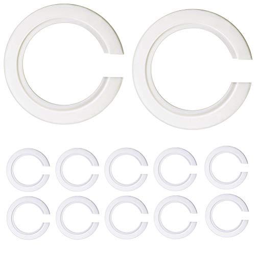 KingYH 12 Piezas E27 a E14 de Convertidor de Anillo de Pantalla de Lámpara de Plástico Reductor de Anillo para Lampara de Pared Lampara de Mesa Ajuste de Pantallas de Lámparas Blanco