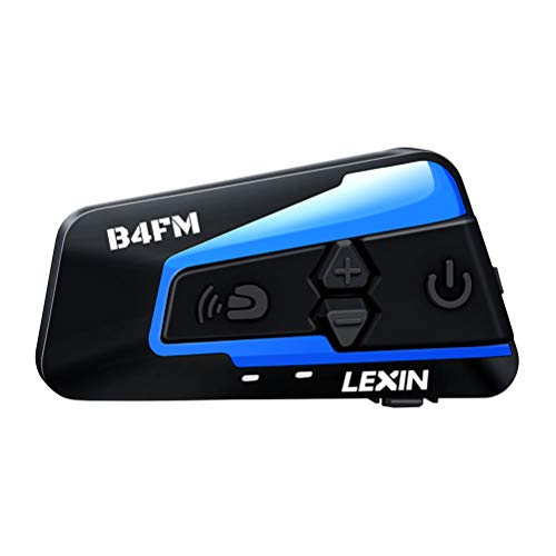 LEXIN 1pc LX-B4FM Motorcycle Intercom, Universal Helmet Communication System up to 4 Riders, Waterproof Motorcycle Bluetooth Headset with 1600m Range