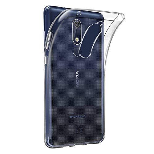 REY - Funda Carcasa Gel Transparente para Nokia X5 - Nokia 5