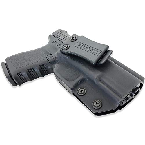 IWB Kydex Holster | American Company | Concealed Carry Holster for Most Glock Models | Compatible with Glock 17 19 22 23 26 27 31 32 33 45 (Gen 1-5) Inside the Waistband Holster (Right Handed)