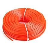 YUIO 2.4mm/3.0mm Trimmer Line Strimmer Brushcutter Cord Line Long Round Roll Square Grass Rope Line For Lawn Mower Trimmer (Orange(Square-2.4mm)(Square)(2.4mm))