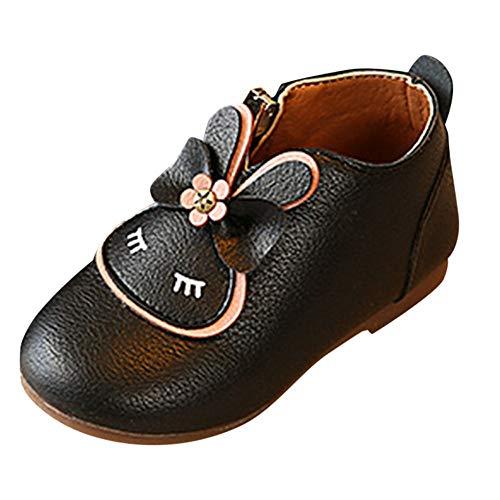 Vovotrade schoenen, bowknot boots, pasgeborenen baby meisjes kribbe zachte zool anti-slip schoenen konijn cartoon rits bowknot laarzen prinses schoenen herfst / winter