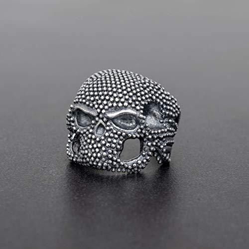 Anillo de plata esterlina 925 para hombres, anillo para hombres, joyería para hombre, regalo, anillo de muerte, anillo medieval, anillo de calavera steampunk, anillo gótico, anillo punk