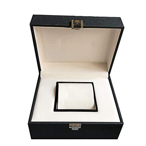 watch box Caja de Reloj de Cuero Artificial para Hombres y Mujeres, Caja de Almacenamiento de Pulsera, Caja de Reloj Individual, Gris Oscuro, portátil, Caja de Reloj de Viaje a casa