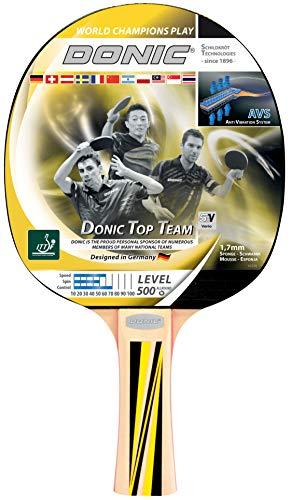 Donic-Schildkröt Raqueta de Tenis de Mesa Top Team 500, Mango AVS, Esponja de 1,7 mm, Almohadilla Donic 1 Estrella-ITTF, 725051