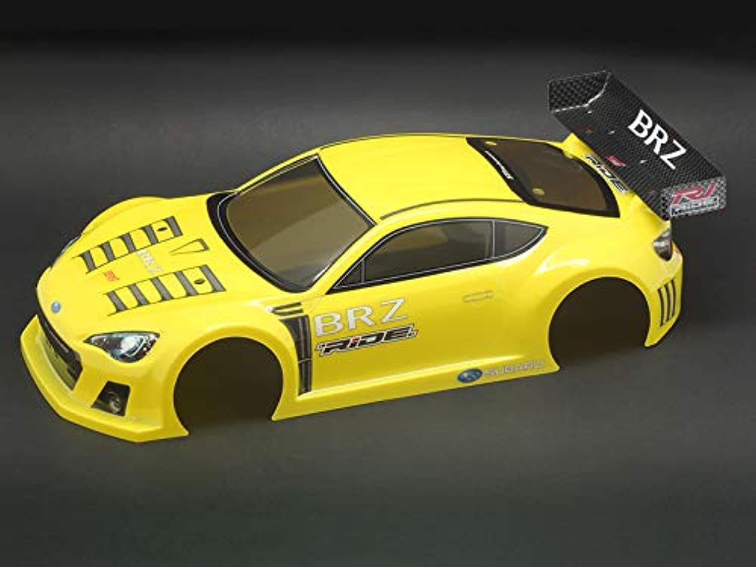 Ride RC Model Hop-ups RIDE-27028 RIDE M-Chassis Subaru BRZ Race Car Concept Body (Fluorescent Yellow)